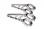 "Bonneville & Thruxton ""Clubman"" Headlamp Brackets CHROME"